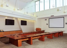 NASA Langley Research Center V Shaped Conference Table
