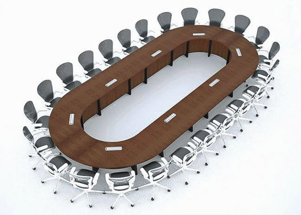 Nationwide Modular Racetrack Conference Table