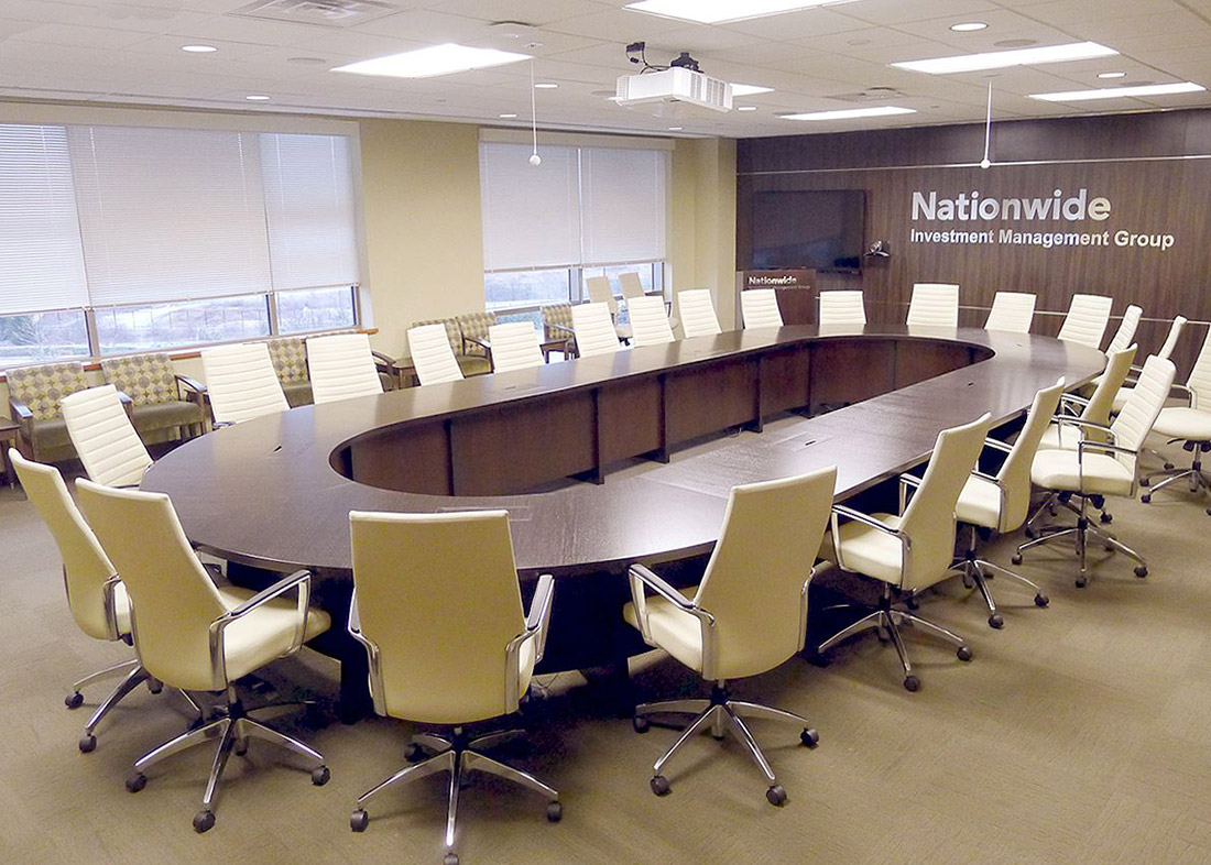 Nationwide Reconfigurable Oval Conference Table