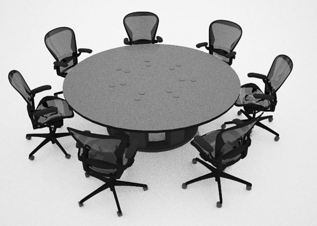 Newport News Custom Round Conference Table