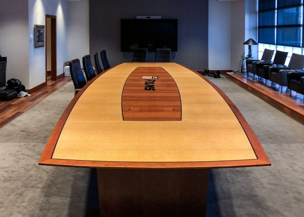 NFL Films Branded Boat Shaped Conference Table
