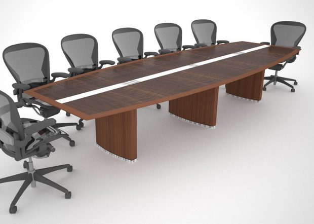 PIM Boat Shaped Conference Table