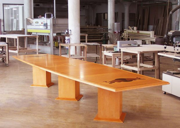 Red Bull Boat Shaped Conference Table with Logo