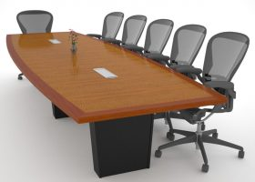 Rhenium Alloys Cherry Conference Table with Power
