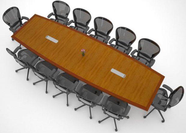 Rhenium Alloys Custom Cherry Wood Conference Table