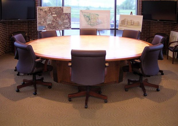 Rowan University Custom Round Conference Room Table