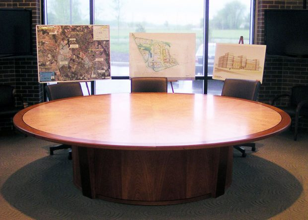 Rowan University Custom Round Conference Table