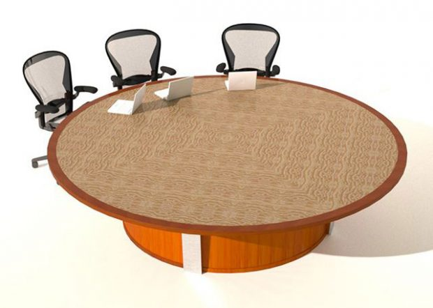 Rowan University Large Round Conference Table