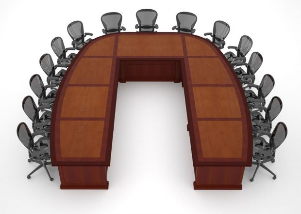 Sargento Custom U Shaped Boardroom Table