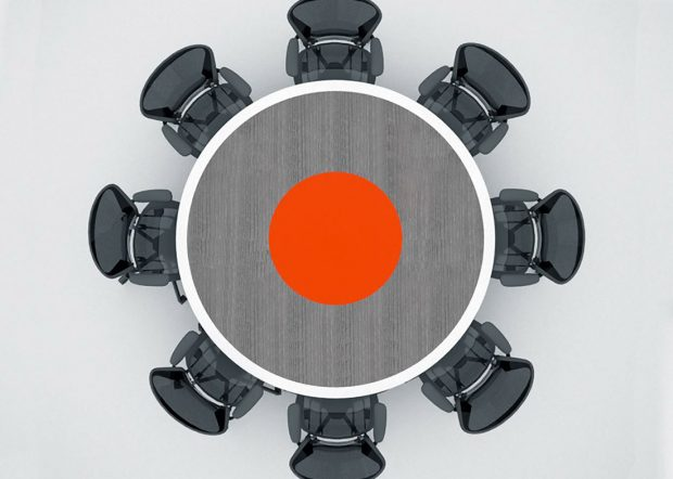 Saritasa Custom Round Conference Table for 8