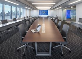 Stevens Institute of Technology Boat Shaped Conference Table