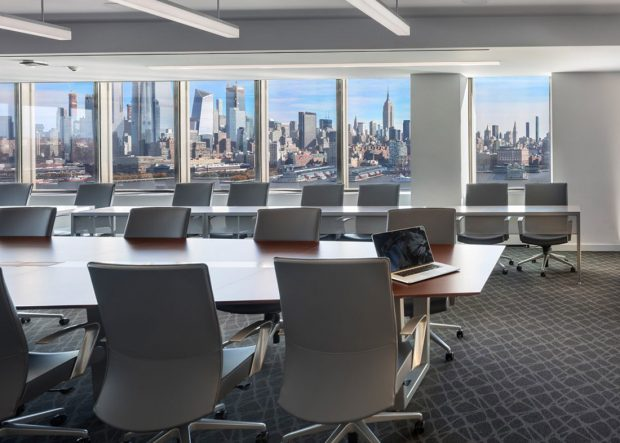 Stevens Institute of Technology Modern Conference Table with Power