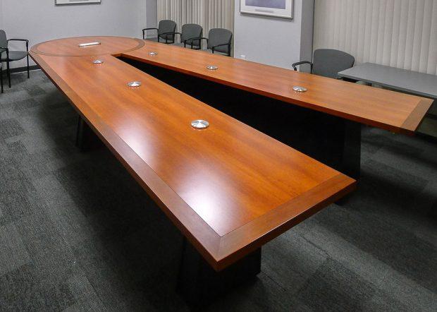 Trumpf Scissoring Adjustable Conference Room Table
