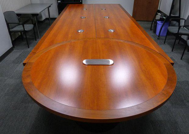 Trumpf Scissoring Cherry Conference Table