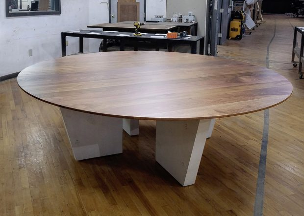 Zwilling Round Solid Wood Conference Room Table