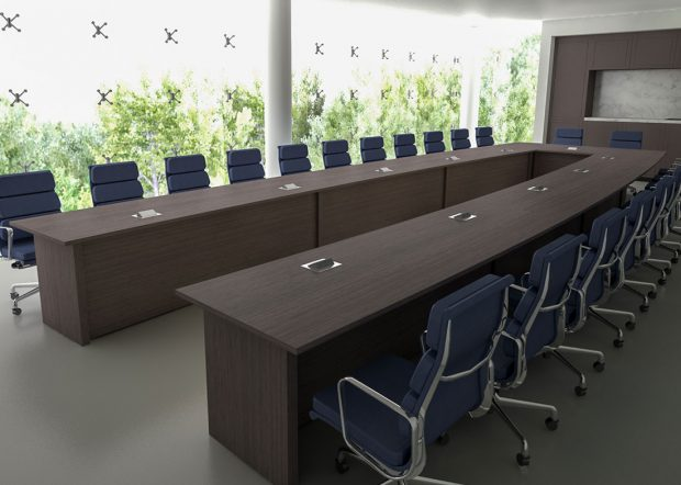 First Quantum Minerals Modern Conference Table for Videoconferencing