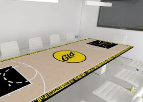GLD Shop Custom Conference Table with Power