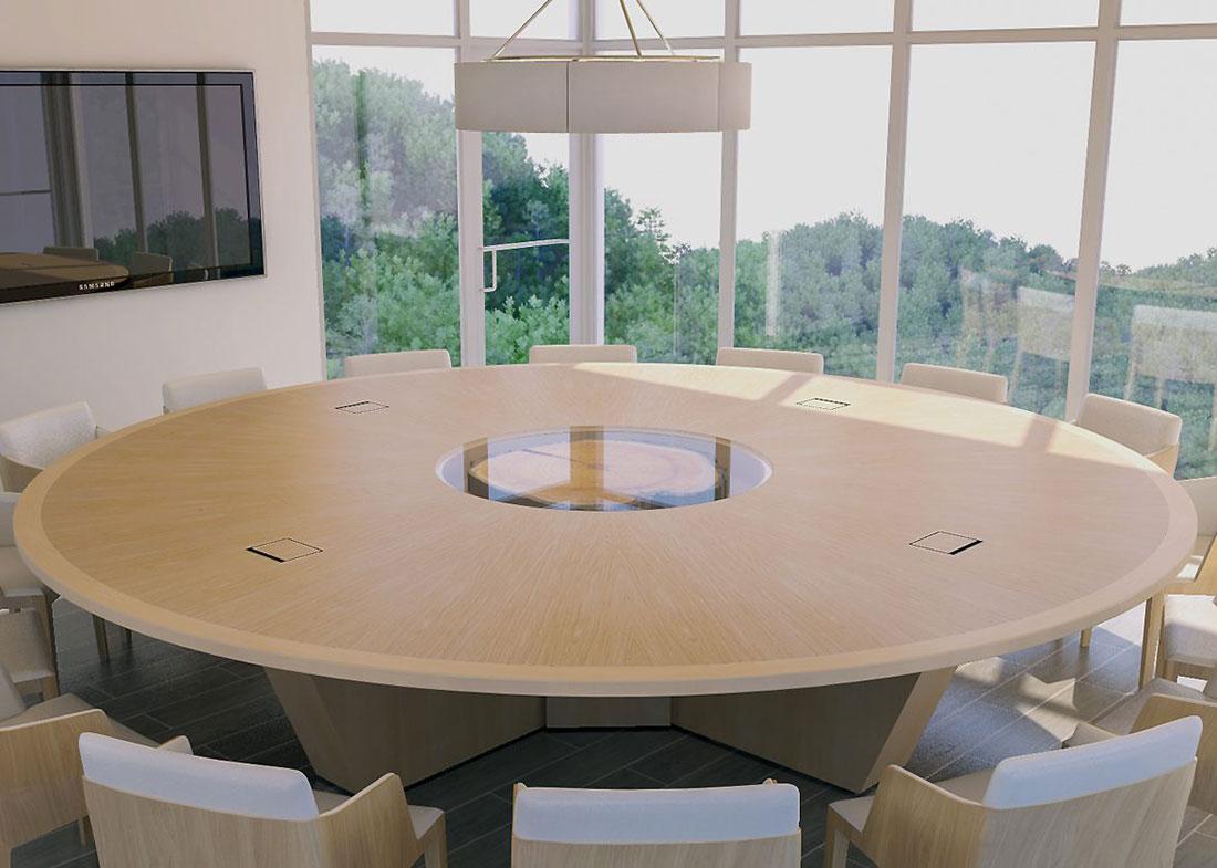 Hancock Lumber Custom Round Meeting Table