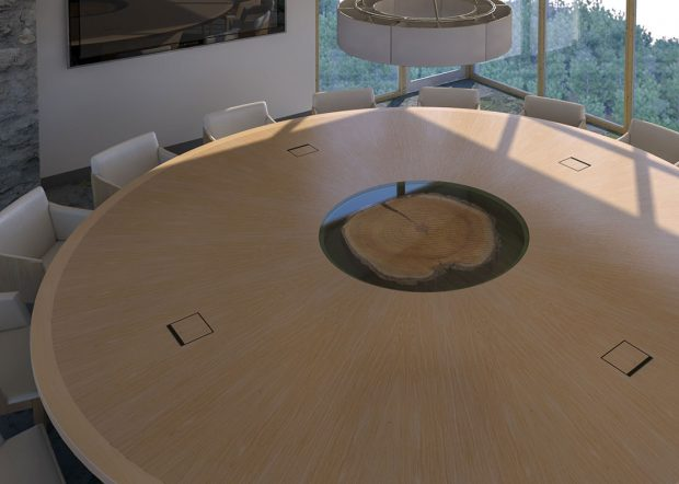 Hancock Lumber Large Round Conference Table
