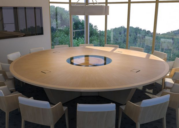 Hancock Lumber Round Conference Room Table