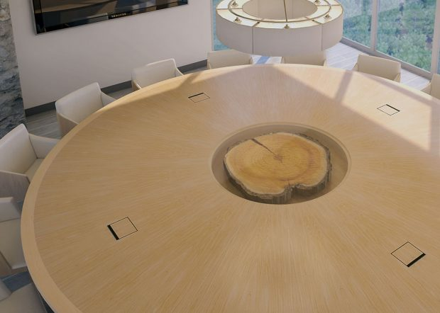 Hancock Lumber Unique Round Conference Table