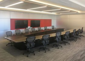 Lincoln Electric Welding School V Shaped Conference Table