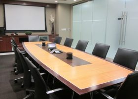 MCR Oil Tools Executive Boardroom Table with Power