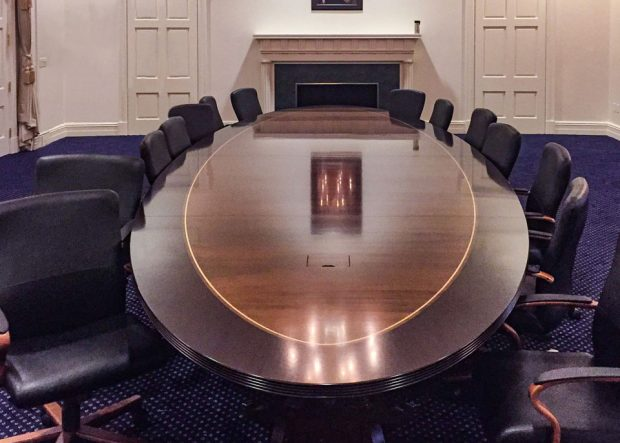 Nixon Presidential Library Conference Table with Power