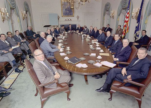 Nixon Presidential Library Modern Conference Table with Power