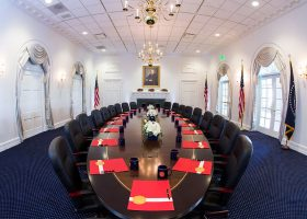 Nixon Presidential Library Oval Meeting Room Table