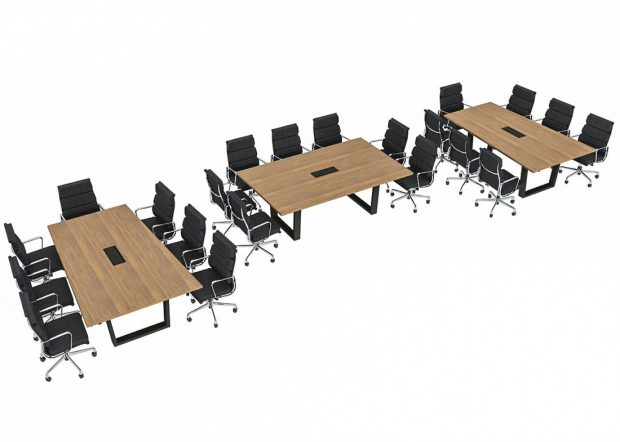 Peak 8 Construction Reconfigurable Conference Room Tables