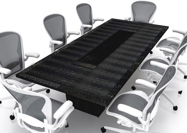 Phillips and Angley Black Conference Room Table