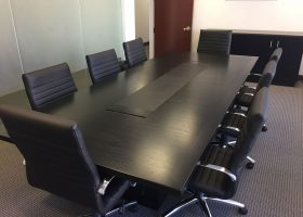 Phillips and Angley Small Black Conference Table