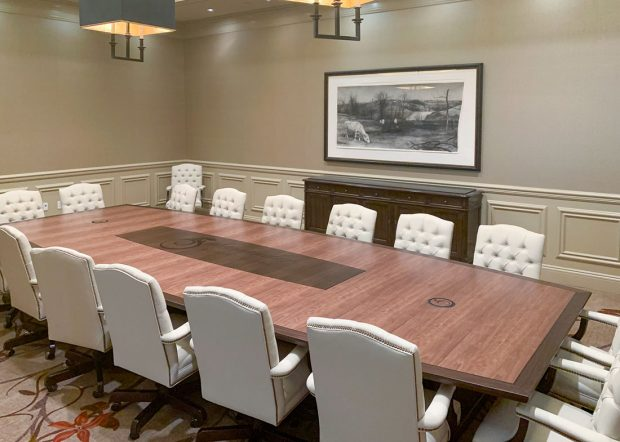 Salamander Resort Boat Shaped Boardroom Table