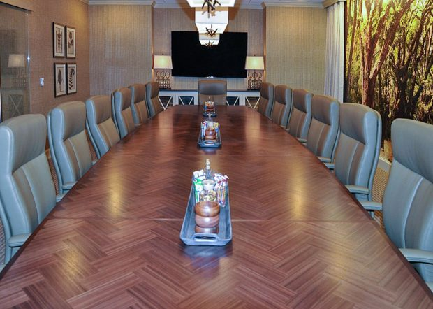 Schanen Company Large Boat Shaped Conference Table