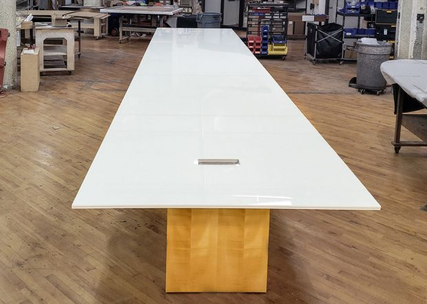 Schulte Roth & Zabel White Conference Room Table