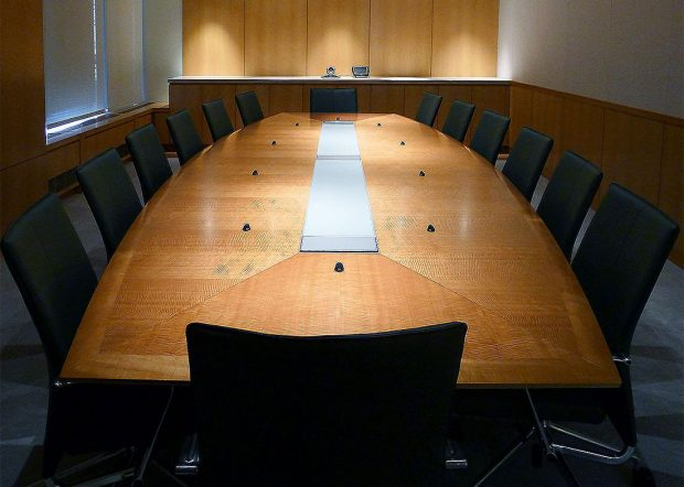 Shorenstein Boardroom Conference Table with Data Ports
