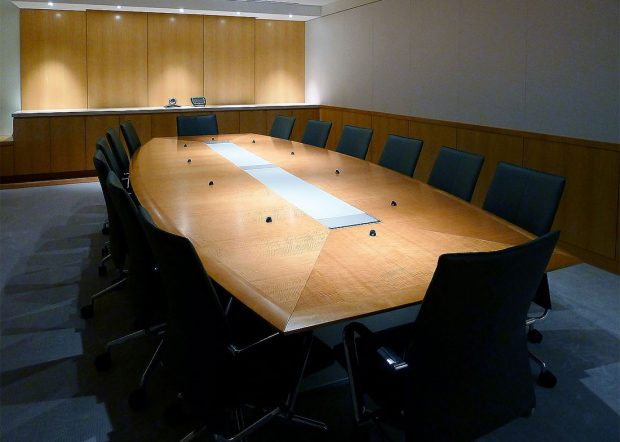 Shorenstein Custom Boat Shaped Conference Table