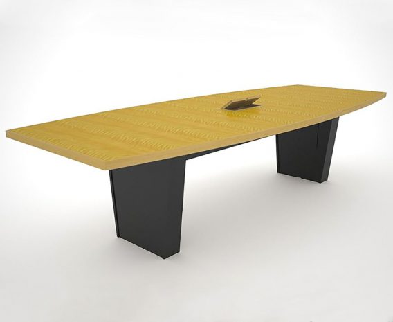Standard Grade Anegre Conference Table with Power Hatch