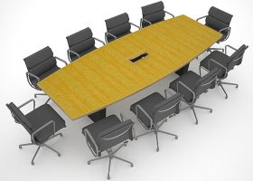Standard Grade Anegre Custom Conference Room Tables