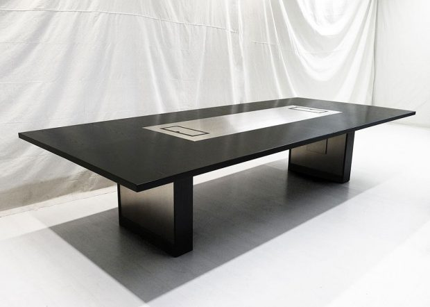 Stevens Love Custom Black Conference Room Table
