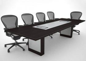 Stevens Love Custom Black Conference Table