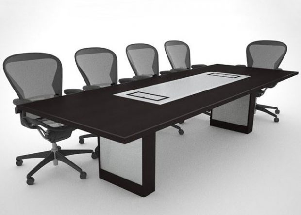 Stevens Love Custom Black Conference Table