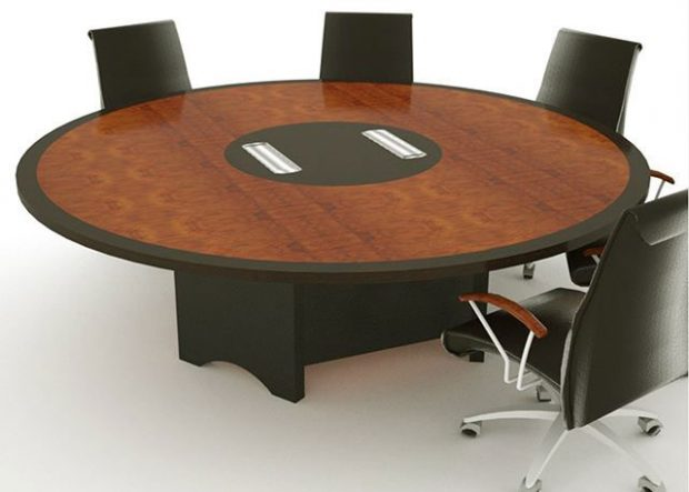 SWH Custom Round Conference Table