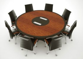 SWH Custom Round Meeting Table