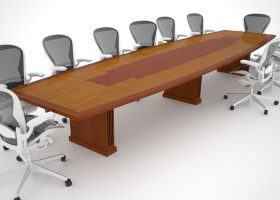 Telemus Solutions Boat Shaped Conference Table