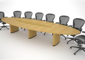 Threshold Group Custom Oval Conference Table
