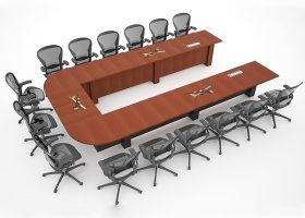 Tinker Air Force Base U Shaped Conference Room Table