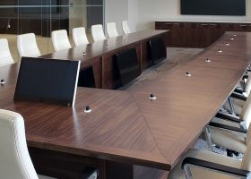 UGI Utilities Conference Table with Recessed Monitors
