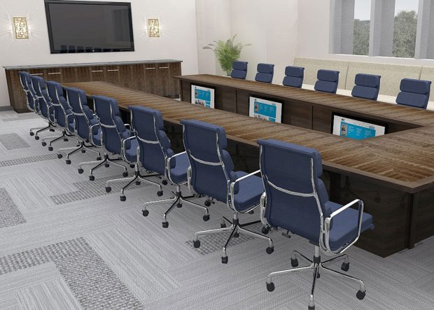 UGI Utilities Modern Conference Table with Power